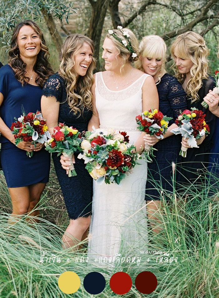 fall bridal party pictures%0A                                                                                                                                                                                Navy Blue  BridesmaidsWedding
