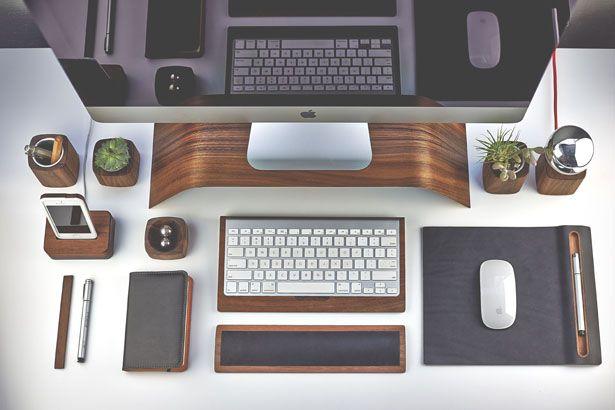 grovemade s desktop collection is a unique handcrafted set of desk rh pinterest es