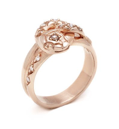 Serpent ring in rose * Anna Sheffield