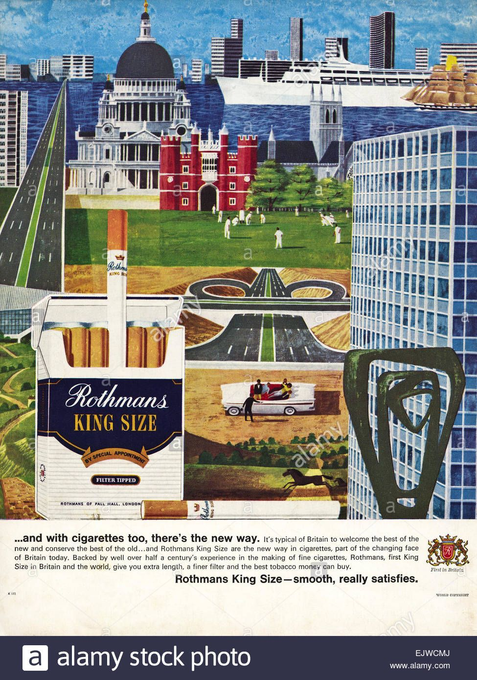 1960s Adver Magazine Advert For Rothmans King Size Cigarettes Dated 1964 Stock Photo