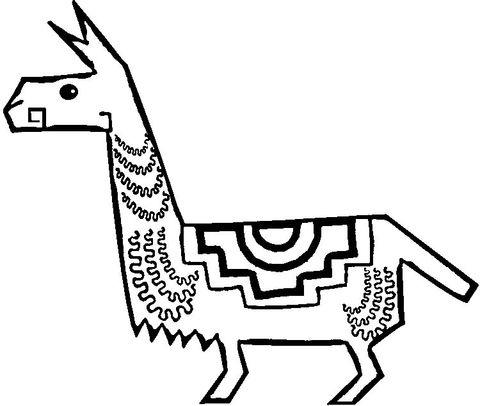 Llama aborigen Dibujo para colorear | ely | Pinterest | Colorear ...