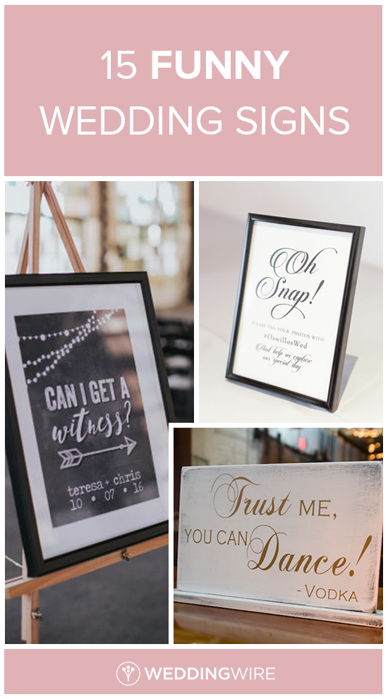 bridal shower thank you cards etiquette%0A    Funny Wedding Signs  Don u    t be afraid to add details with a sense