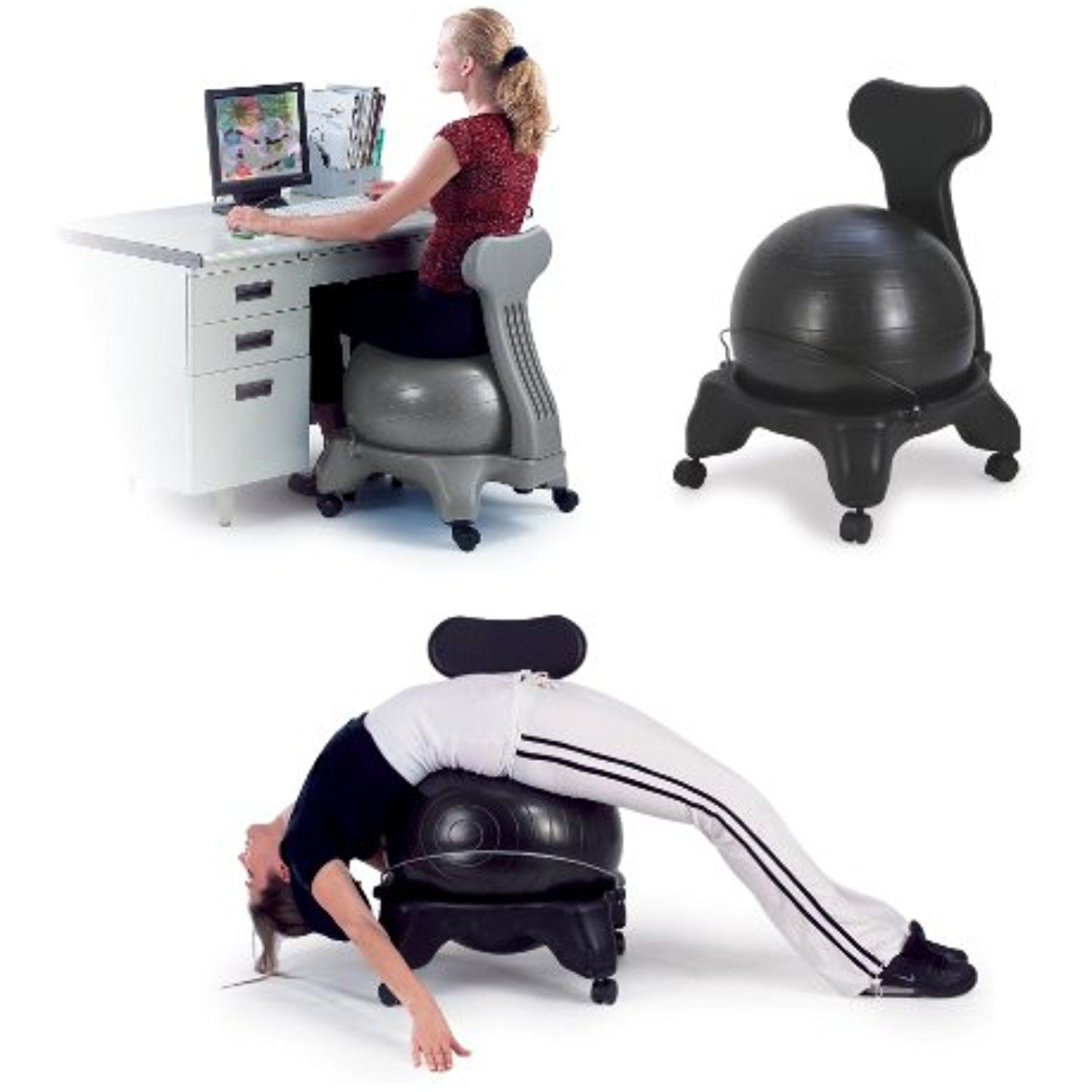 sivan health and fitness balance fit chair with ball and pump rh pinterest com au