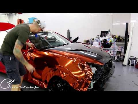 time lapse orange chrome vinyl installation genesis coupe with gloss rh pinterest com