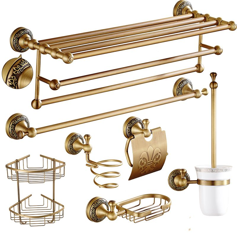 Antique Bronze Bathroom Accessories European Brushed Solid Brass ...