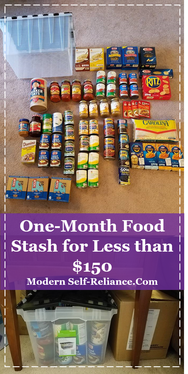 Shelf Stable One Month Food For One Person For Less Than 150 Emergency Preparedness Food Storage Emergency Food Storage Emergency Preparedness Food
