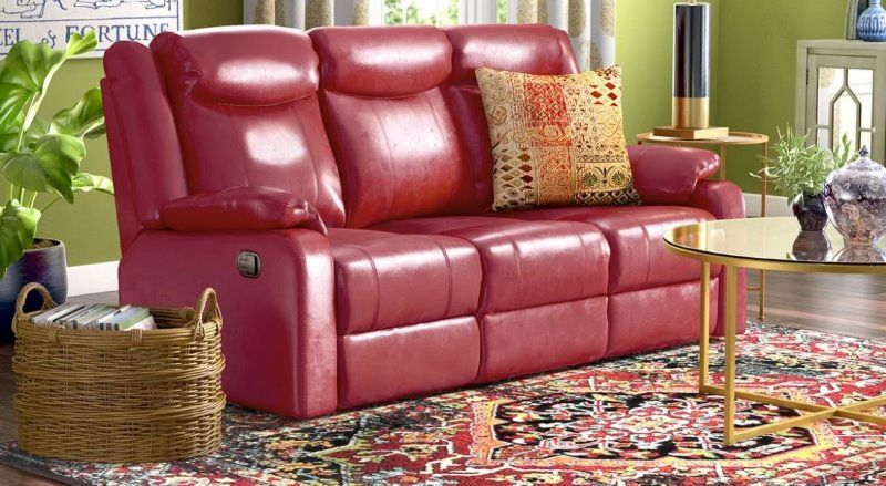 8 red faux leather sofa options that make a statement faux leather rh pinterest com
