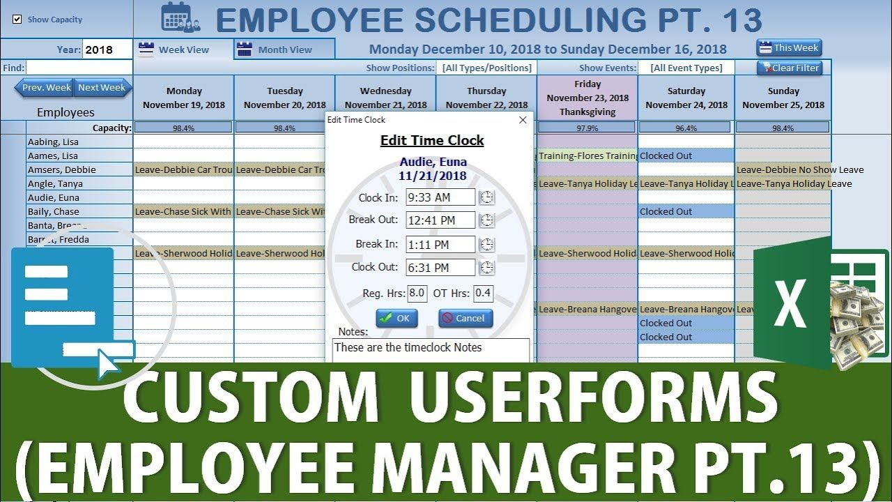Create This Amazing Excel Custom Userform on Right Click [Employee