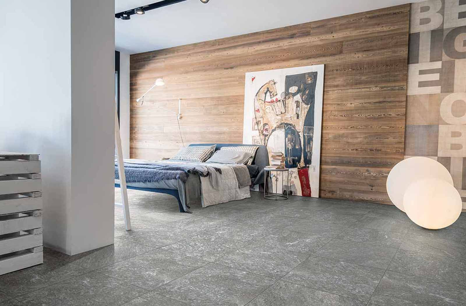 Funky Bedroom Design Decor With Quartz Stone Tile Collection From  Porcelaingres.