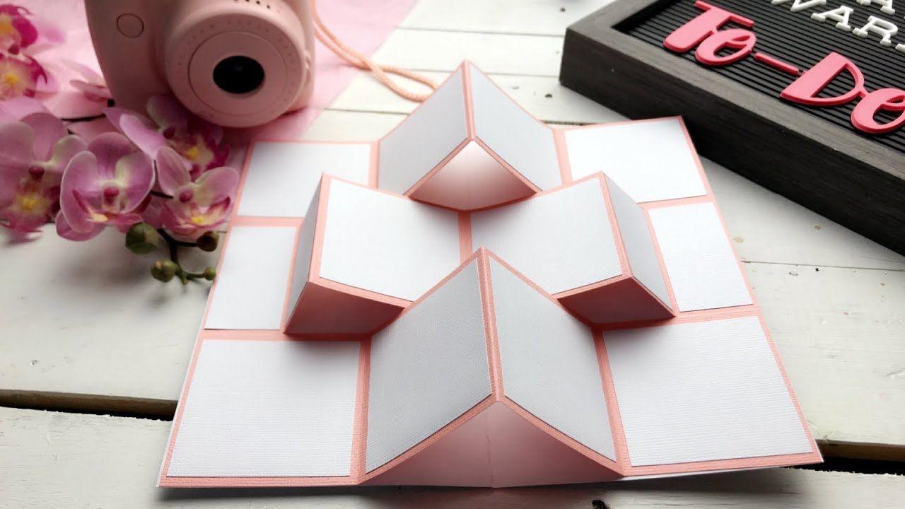 مطوية براويز الصور المنبثقة مطويات ٢٠١٩ Mini Album Pop Up Christmas Card Ornaments Card Sketches Templates Paper Crafts Diy