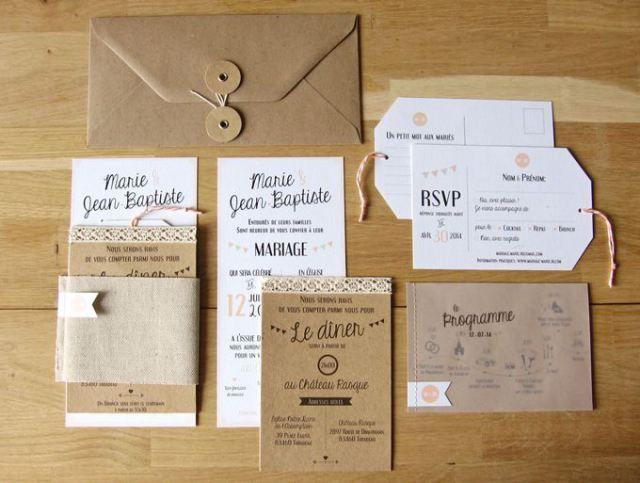 Perfekt #Papeterie #Hochzeit #Einladungen: Natur U0026 Weiß