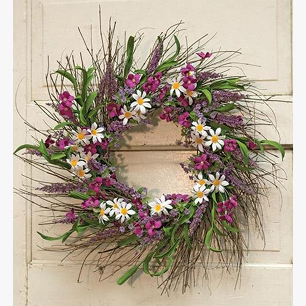 Spring Flower And Flox Sunburst Wreath Is The Perfect Piece To Help