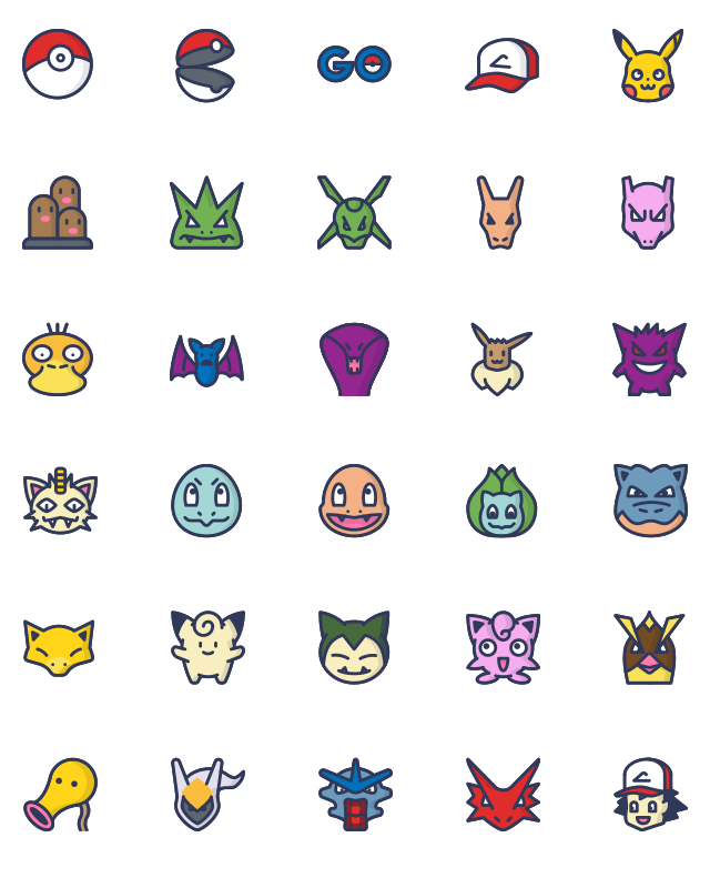 Pokemon Go Icons Color Pokemon Tattoo Cute Pokemon Wallpaper Pokemon Stencils