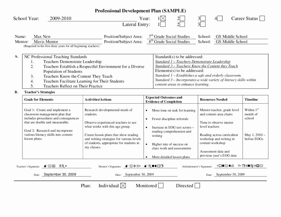 30 Personal Growth Plan Template in 2020 Professional