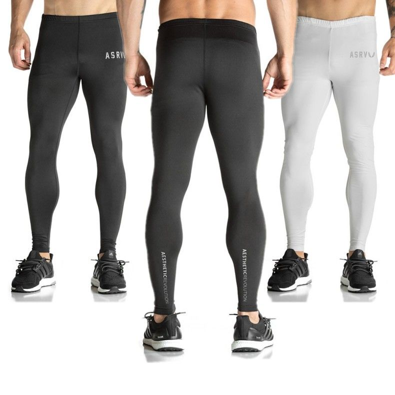 c586bf83dfbe ASRV Mens Compression Tights Pants Joggers Running Gym Clothing Pantalones  Hombre Gymshark Sweatpants Trousers-in Skinny Pants from Men s Clothing ...
