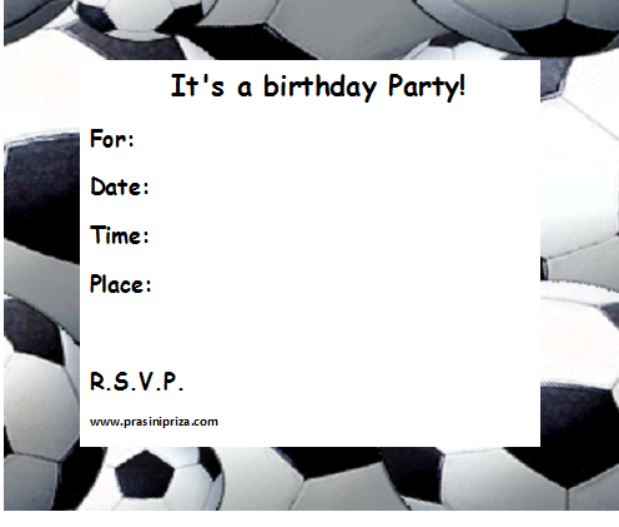 FREE BIRTHDAY INVITATIONS PRINTABLE FOOTBALL BACKGROUND