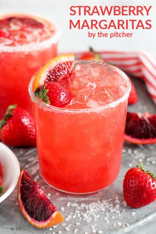 Strawberry Margarita - Celebrating Sweets