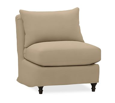 carlisle slipcovered sectional armless chair polyester wrapped rh pinterest nz