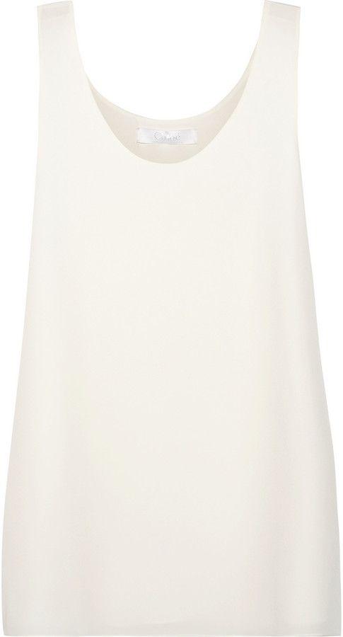 14e422ca00201c Chloé Silk crepe de chine top on shopstyle.co.uk