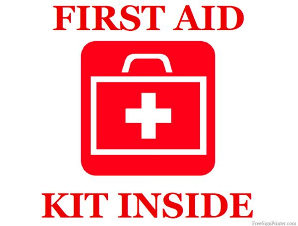 photo relating to Printable First Aid Sign referred to as Printable To start with Support Package Within just Indication Lady scouts 1st
