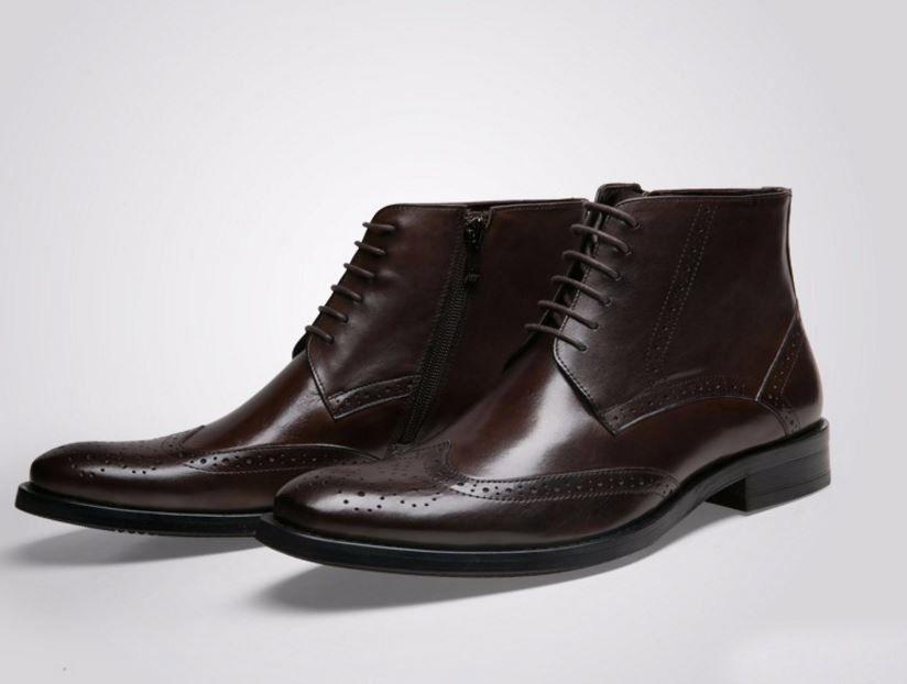 Handmade Genuine Leather Men Boots New