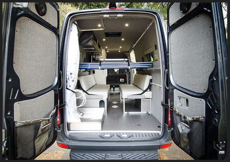 Custom ProMaster, from Outside Van. Check out the shower ...