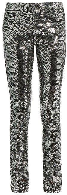 84a22a9a019 SAINT LAURENT Sequin-embellished skinny jeans