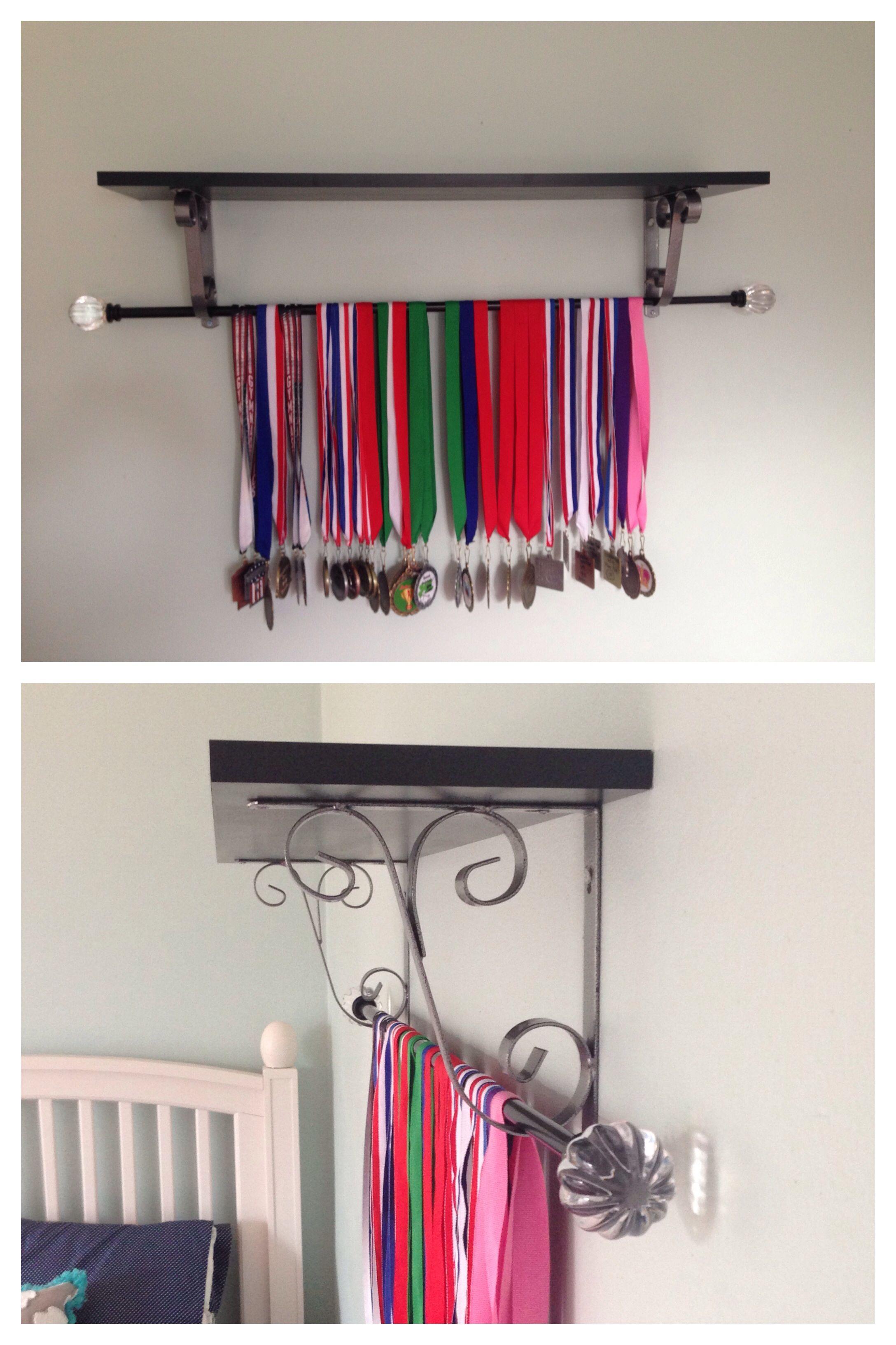 Diy Medals Display Display Gymnastics Medals Using A Shelf And