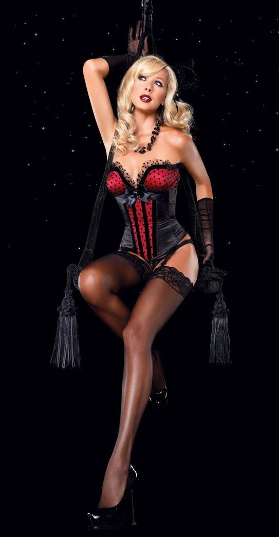 Red Valentina Burlesque Corset With Bustle Skirt Option Clothing, Shoes & Accessories Costumes, Reenactment, Theater Aussie Seller