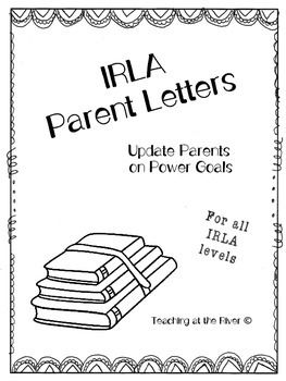 I created these letters to update my student's parents on