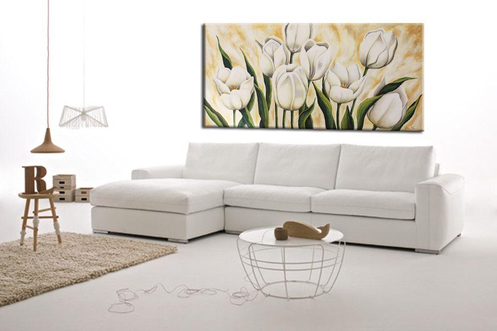 Quadri moderni dipinti a mano su tela ad olio o in acrilico cerato ...