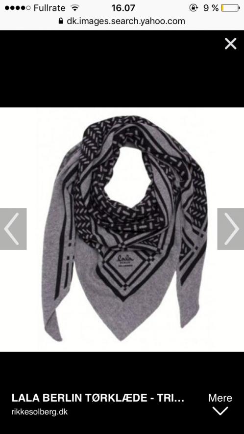 972b9fc84ee Lej denne grå Lala Berlin tørklæde i str Onesize for kun 30 kr. om dagen