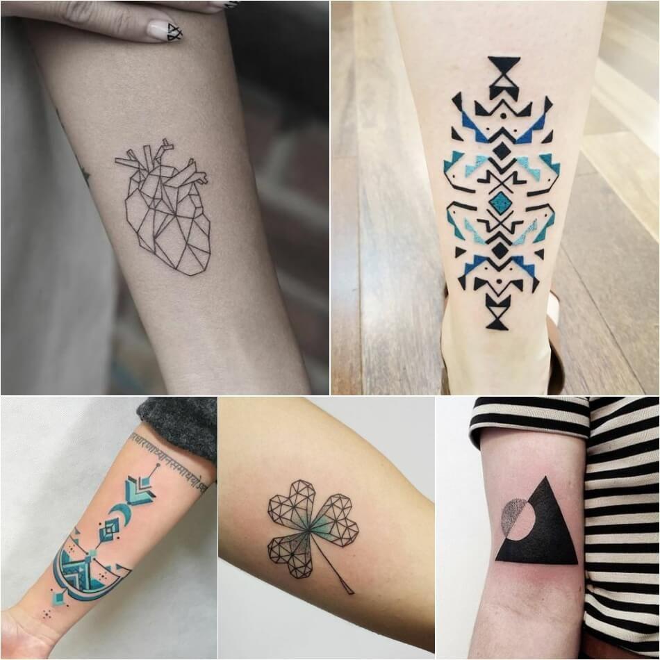 Top геометрические тату на руке