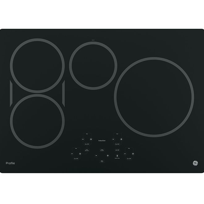 Ge Profile 30 Induction Cooktop With Bridge Element Black