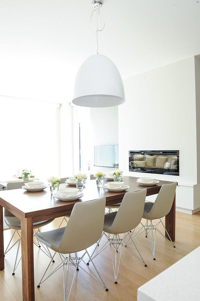 blanco y gris. sencillez y elegancia. comedor - diningroom