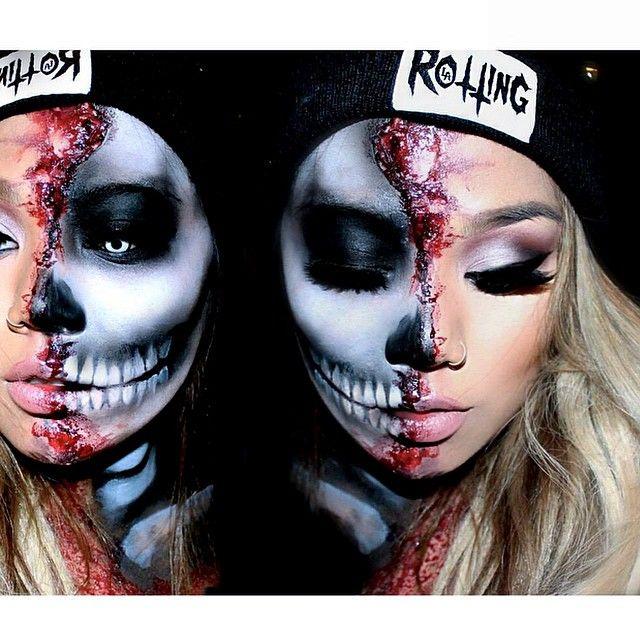 Instagram Post by J U L I E 💎 (@pala_foxxia)   Half skull, Latex ...