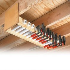 overhead clamp rack woodsmith tips holzbearbeitungs on attractive garage storages ideas to organize your garage get these few tips id=19131