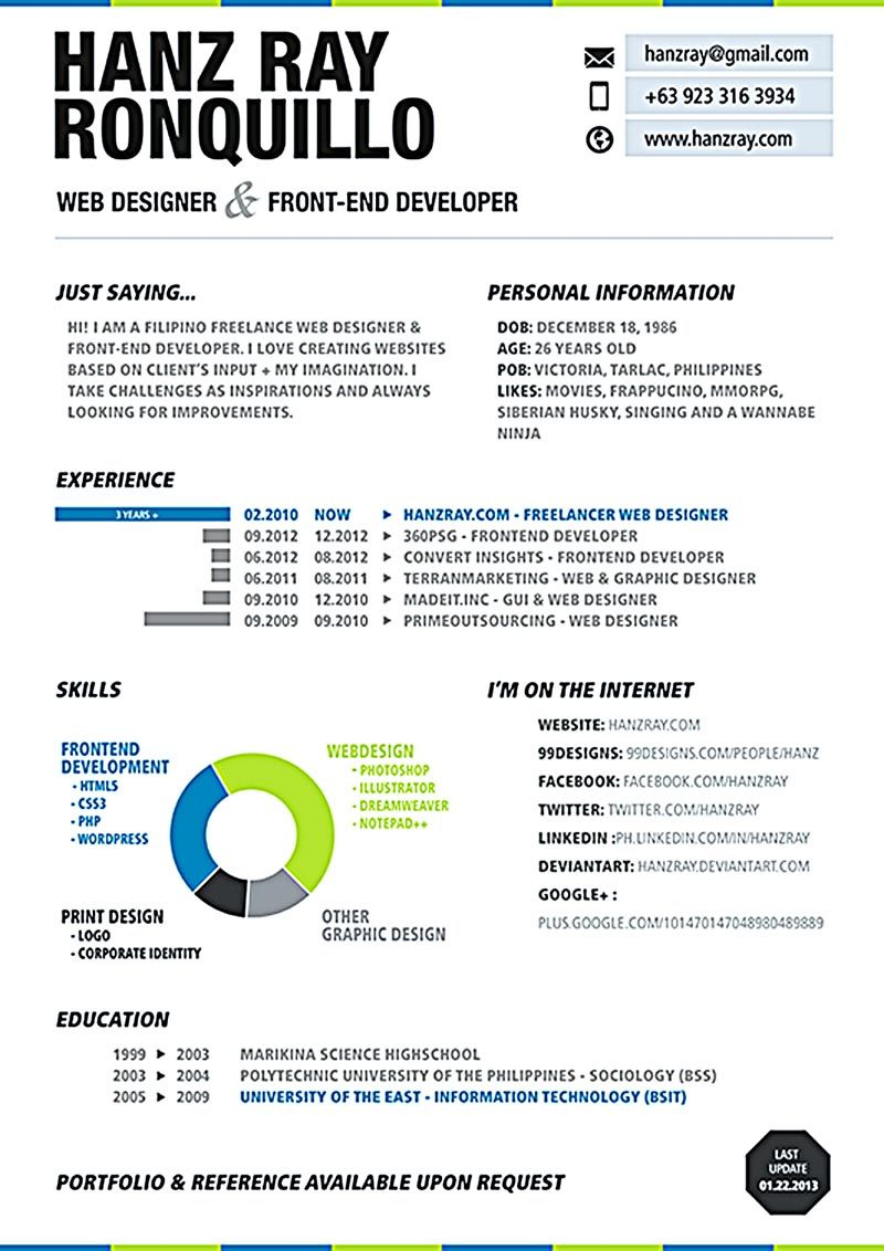 Web developer resume is needed when someone want to apply a job as ...