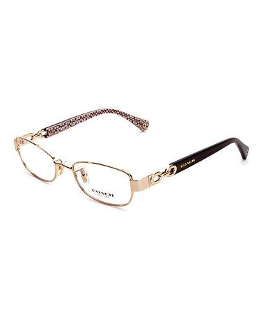 Another great find on #zulily! Gold & Dark Turquoise Stacy Eyeglasses #zulilyfinds
