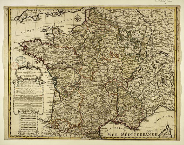 18th century map of france quelleques cartes de france 18th century map of france gumiabroncs Image collections