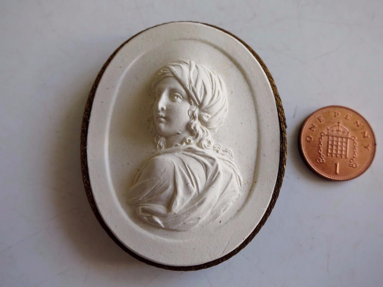 Antique 19thC Grand Tour Plaster Intaglio Cameo Classical Roman Greek Figure 74 | eBay