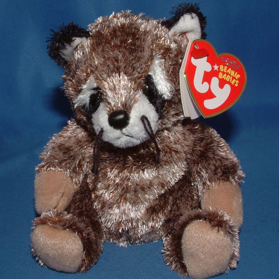 Ty beanie baby sneaks mwmt raccoon 2007 baby beanie