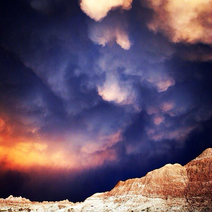 Storm Clouds Over Badlands National Park
