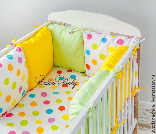 Купить Комплект бортиков в детскую кроватку - бортики в кроватку, детская кроватка, бортики, для детей, для малышей