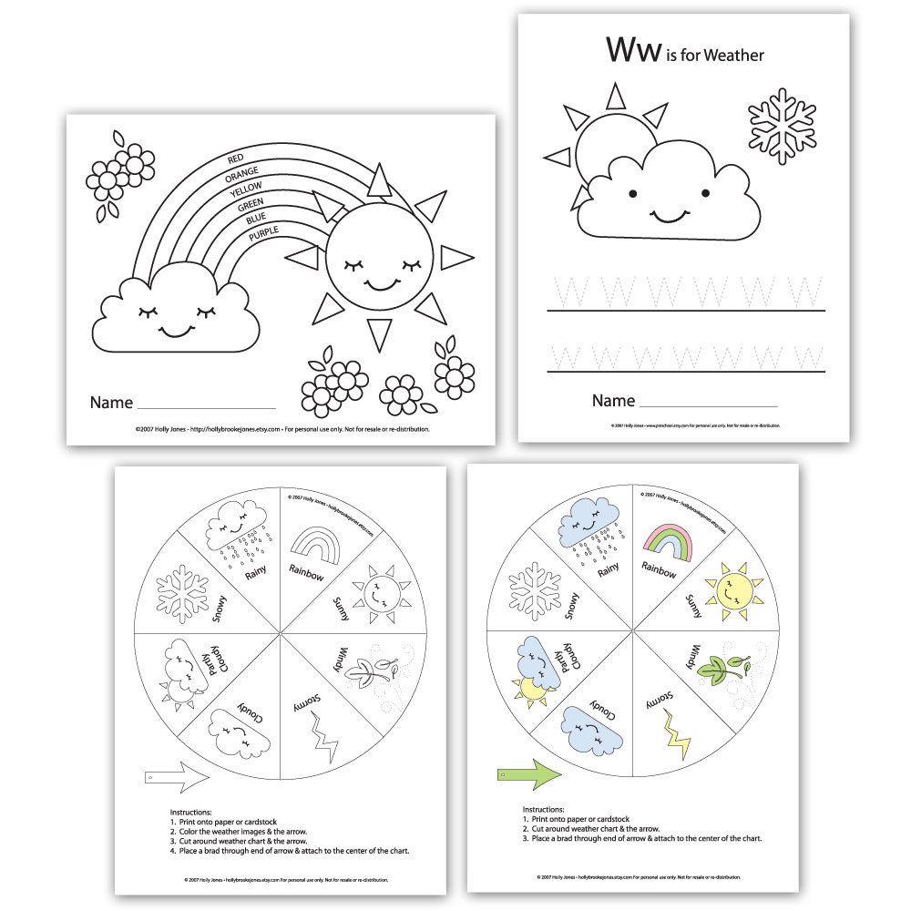 Preschool Printouts Weather Unit Printable digital