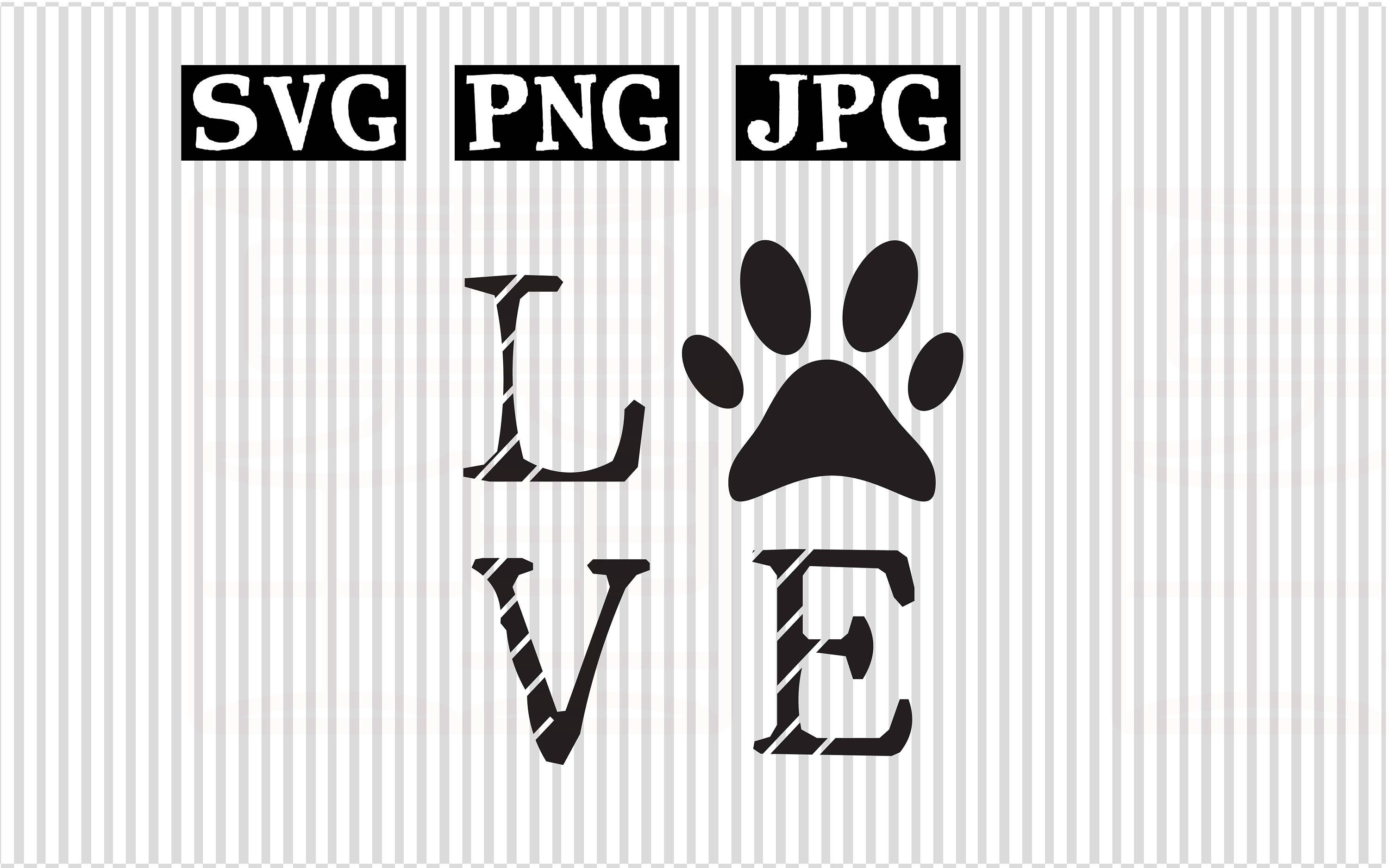 Download Love Dogs SVG Vector File for cricut Love paw svg file Dog ...