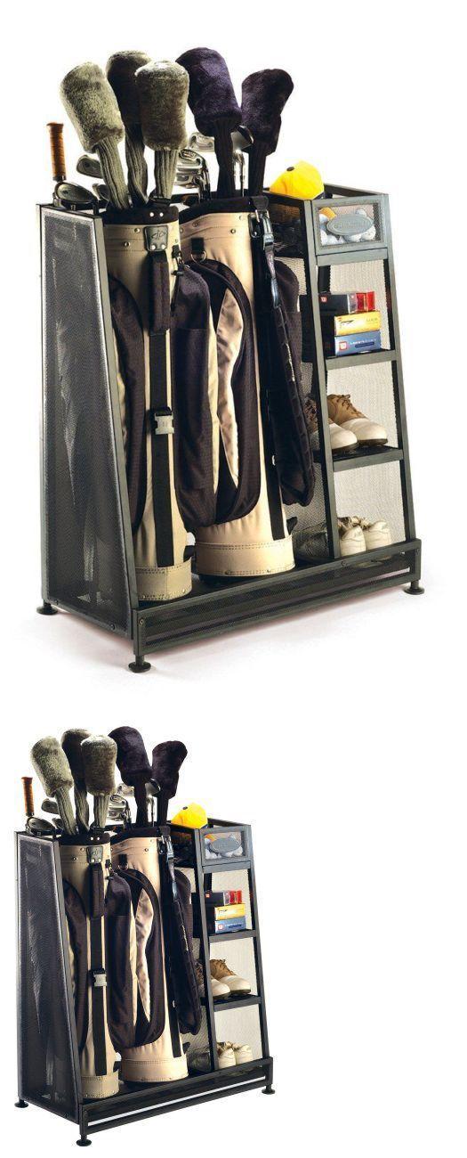 Other Golf Accessories 1514: New Suncast Go3216 Golf Bag Storage Rack  Garage Organizer Clubs Shoes