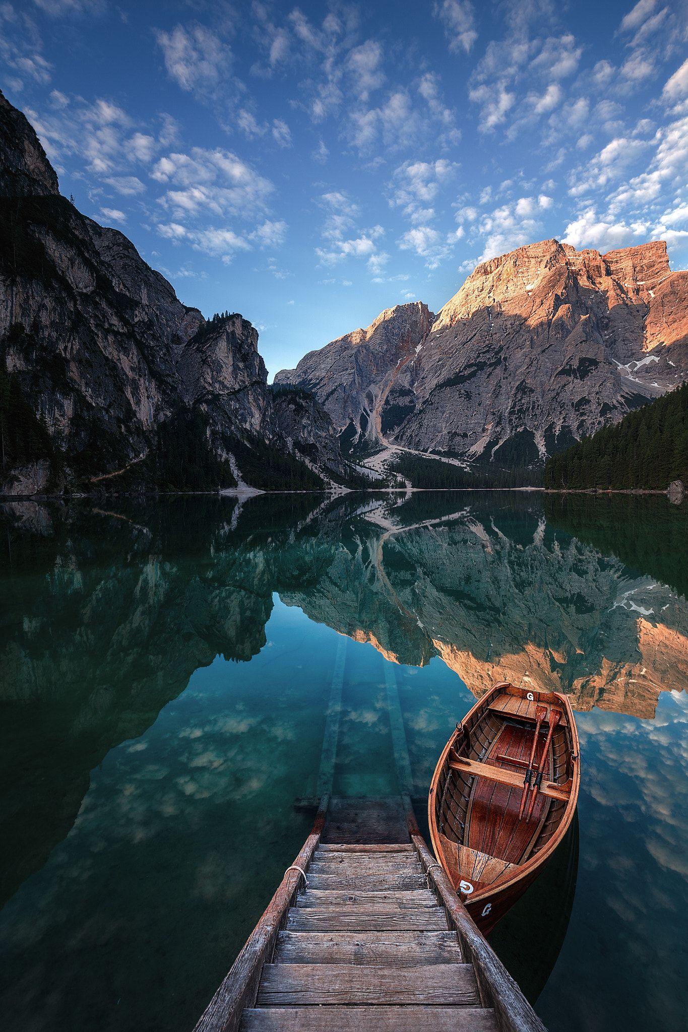 The Pragser Wildsee, or Lake Prags, Lake Braies (Italian ...