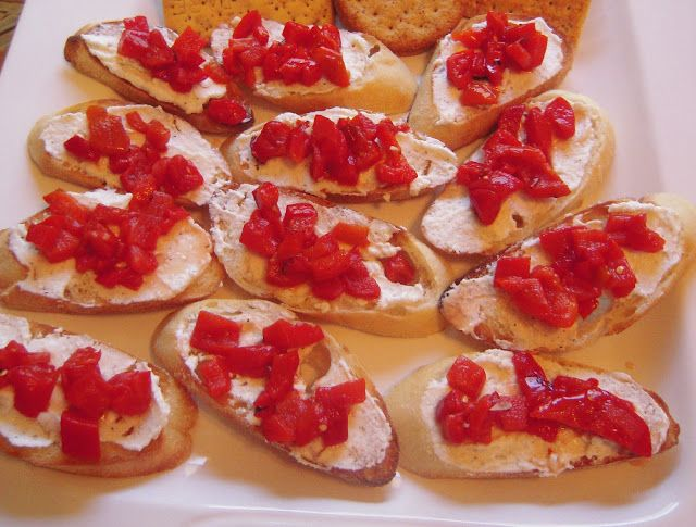ATK Bruschetta with Whipped Feta and Roasted Red Peppers