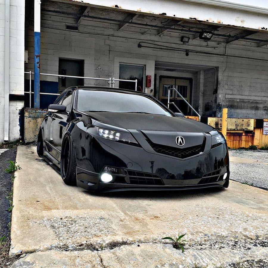 Acura Tl Slammed Black On Black: Erick's 2011 Acura TL With Jewel Eye Head Light Conversion